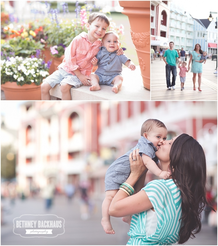 Beautiful family poses for Orlando family photographer