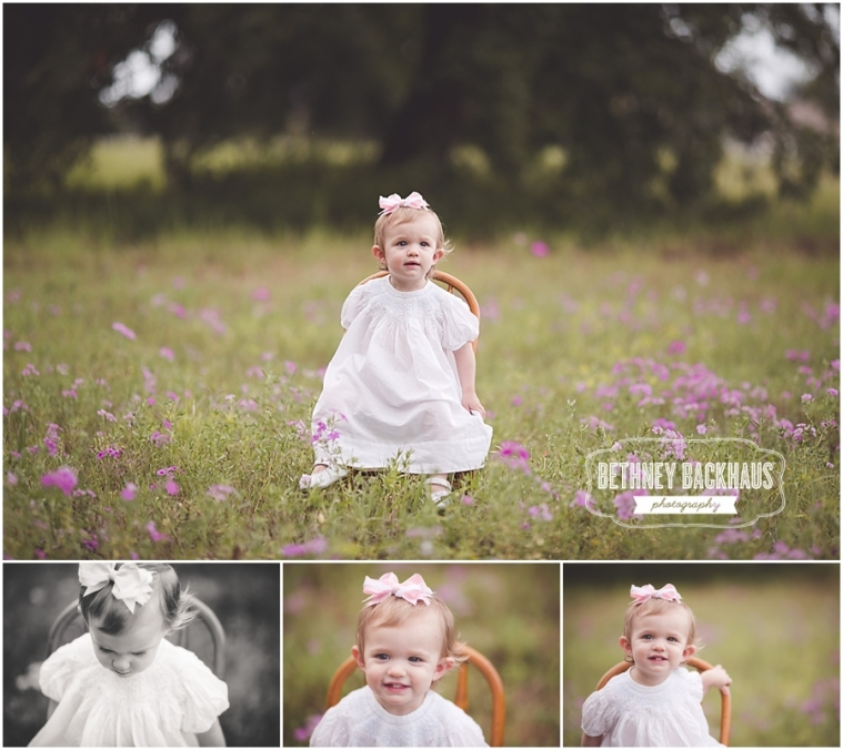 Orlando baby photographer session in wild flower field