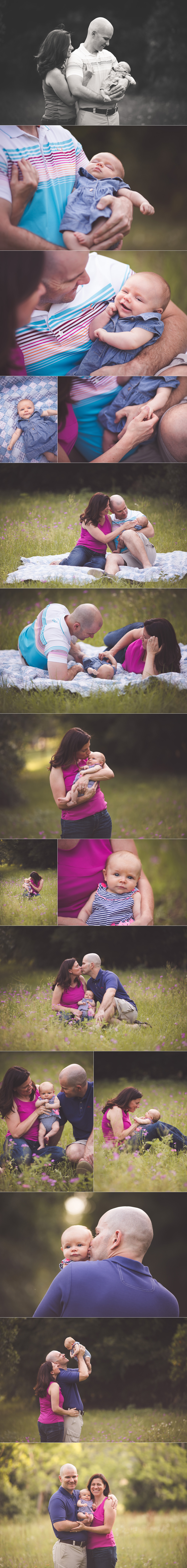 Three Month Baby Session in the Wildflowers {Mount Dora Baby Photographer}
