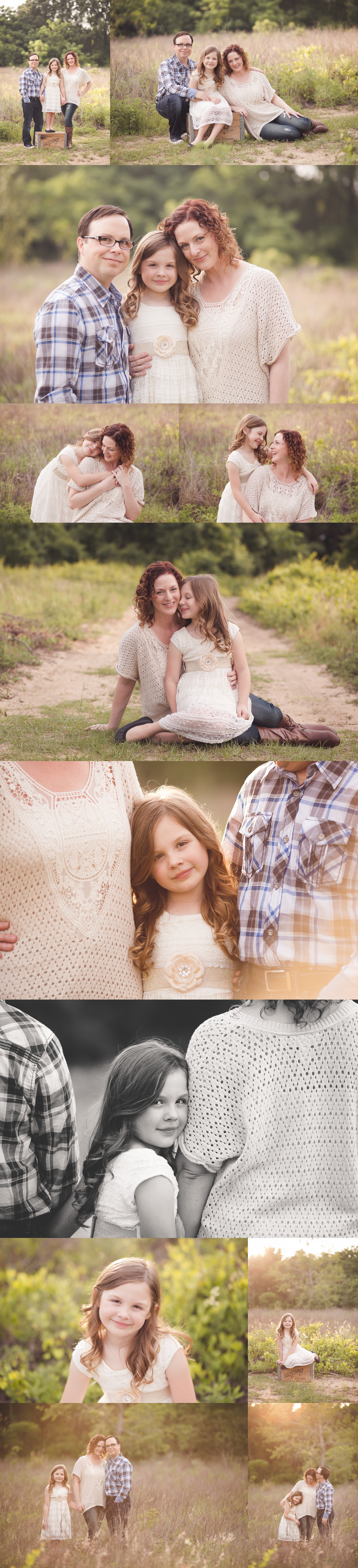 sunlit field family session {tavares family photographer}